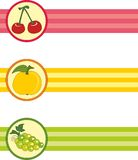Set of bookmarks with fruits Stock Photography