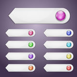 Set of bookmarks. With multicolored spheres Stock Photography