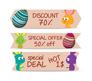 Set of bookmarks sticker tags easter eggs Royalty Free Stock Images