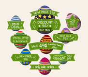 Set of bookmarks sticker tags easter eggs Royalty Free Stock Photography