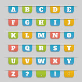 Set of bookmarks, stickers, labels, tags alphabet Stock Photography