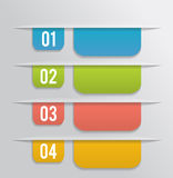 Set of bookmarks, stickers, labels, tags. On gray background Royalty Free Stock Photo