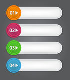 Set of bookmarks, stickers, labels, tags. Numbered. Banners. Vector template for infographics Stock Photos