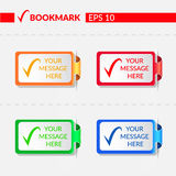Set with bookmarks Royalty Free Stock Photos