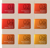 Set of bookmarks. Vector illustration Royalty Free Stock Image