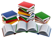 Set of books Royalty Free Stock Photos