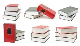 Set of books with different camera angles isolated on white. Background Royalty Free Stock Photography