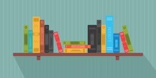 Set of books in flat design stock illustration