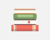 Set of books in flat design, vector illustration. Eps10 Royalty Free Stock Photo