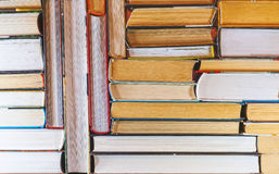 A set of books in the library. Stock Photos