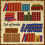 Set of books from the library. Set of vintage books from the library royalty free illustration