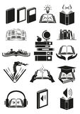 Set of books or novels with different theme. Editable Clip Art. Royalty Free Stock Image