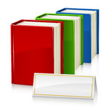 Set of books with sign Stock Photo