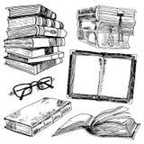 Set of books sketch Stock Image