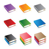 Set of books of various color royalty free illustration