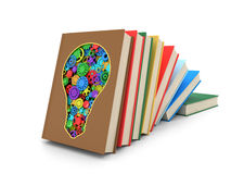 A set of books where one of the books Royalty Free Stock Image