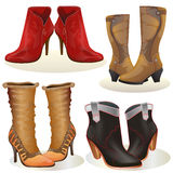 Set of boot isolated on white Stock Images