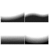 A set of border black and white halftone background Royalty Free Stock Photos