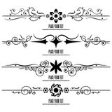 Set Border Design Element Royalty Free Stock Image