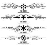 Set Border Design Element. Vector Set Border Design Element Royalty Free Stock Image