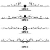 Set Border Design Element Royalty Free Stock Images