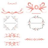 Set Border Design Element. Vector Set Border Design Elemen Frame Stock Images