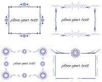 Set Border Design Element. Vector Set Border Design Element Frame Royalty Free Stock Photography