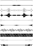 Set of borders decoration. Vector Stock Images
