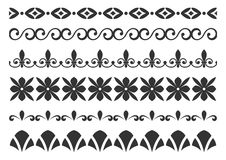 Set of borders for design Stock Image