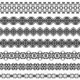 Set of borders. Set of elegant black borders on the white background Royalty Free Stock Photography