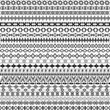 Set of borders, ethnic motifs background Royalty Free Stock Images