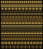 Set of borders ornament of gold Royalty Free Stock Images