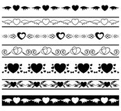 Set of borders for romantic design - vector Royalty Free Stock Photos