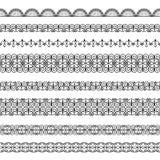 Set of borders. Set of elegant black borders on the white background Royalty Free Stock Image
