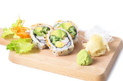 Set of Boston sushi rolls Royalty Free Stock Photos