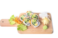 Set of Boston sushi rolls Royalty Free Stock Photography