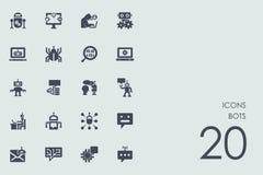 Set of bots icons Stock Image