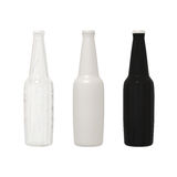 Set of bottle alcohol cocktail softdrink  with clipping path. Set of transparent, white and dark bottle  of  alcohol, cocktail ,softdrink ,fruit juice and beer Royalty Free Stock Image