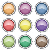 Set of bottle caps. Illustration for the web Stock Photos