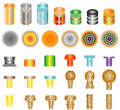 Set of bottle caps Stock Images
