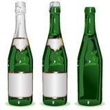 Set bottle of Champagne Royalty Free Stock Images