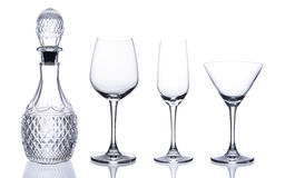 Set bottle and glass Royalty Free Stock Image