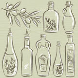 Set of bottle for olive oil, vector Stock Photos