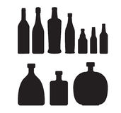 Set of bottles Royalty Free Stock Images