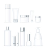 Set of Bottles for Cosmetics  Royalty Free Stock Image
