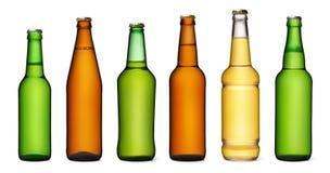 Set of Bottles isolated on white background Stock Photos