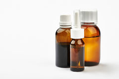Set of bottles with medicine. Stock Photos