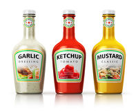 Set of bottles with seasonings Stock Image