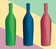 Set of bottles. Vector illustration Royalty Free Stock Photography