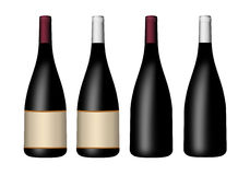 Set of bottles for wine Royalty Free Stock Images